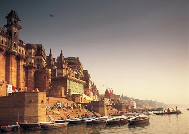 Rivier de Ganges in Varanasi