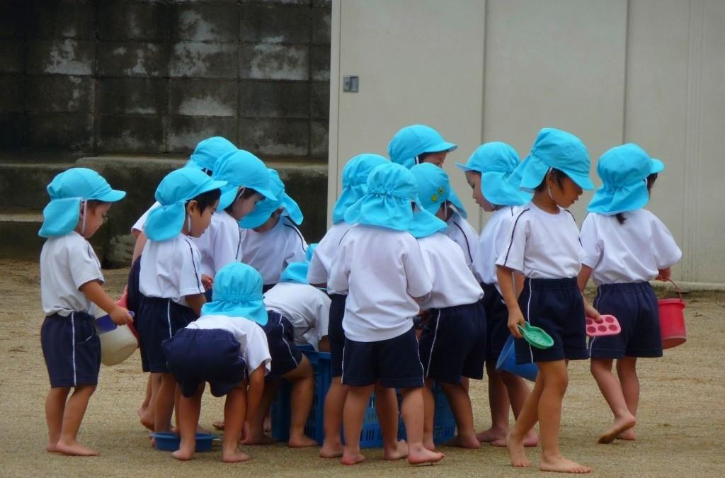 Schoolkinderen in Japan