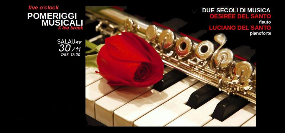 DUE SECOLI DI MUSICA Five o'clock POMERIGGI MUSICALI & tea break