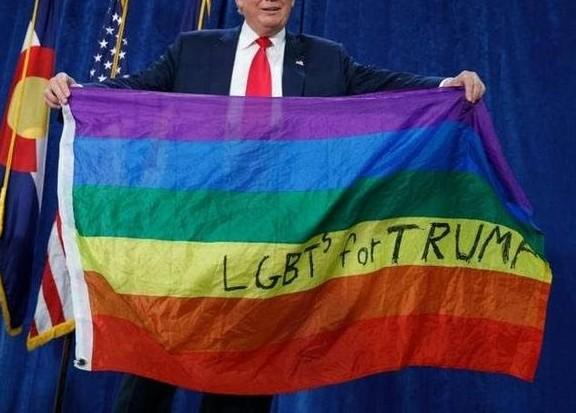 Fake Trump LGBT support