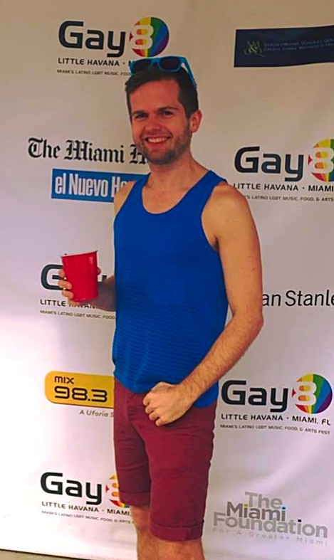 Ashton Giese at Gay 8 Little Havana, Miami