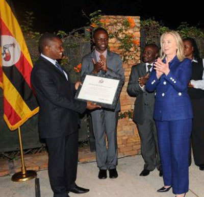 Ugandan Honored by Clinton Defends US Role in Africa