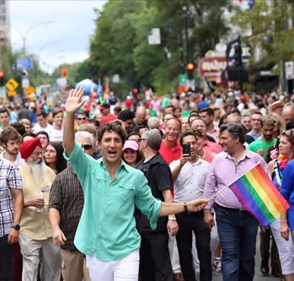 Justin Trudeau Marches in Montreal