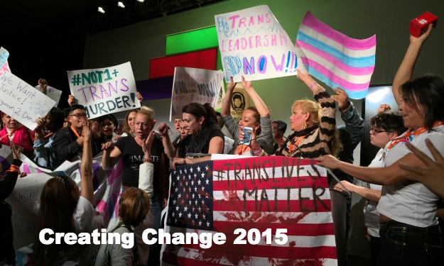 Protest at Creating Change