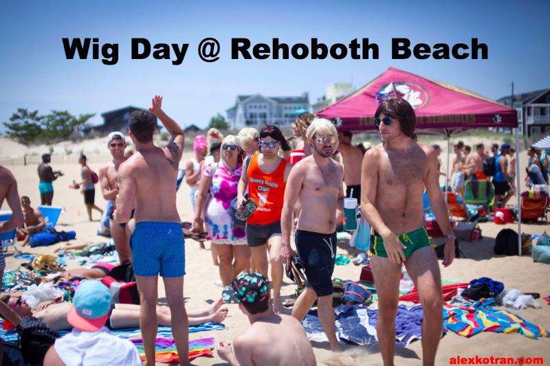 Wig Day Saturday at Rehoboth Beach Delaware - DC's Gay Beach