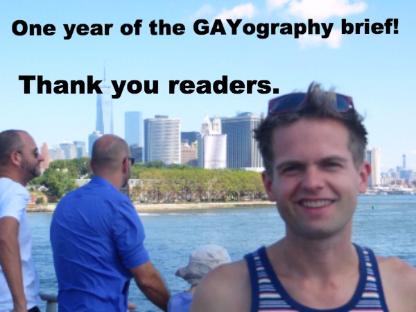 One Year of the GAYography brief!