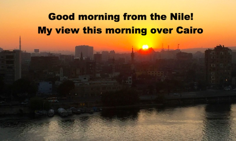 Ashton's view over the Nile this morning
