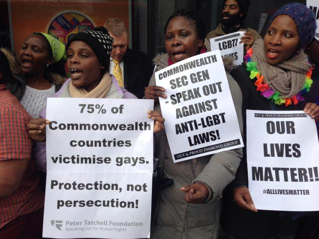 London Protests for LGBTIQ Rights in Commonwealth Contries