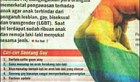Indonesia Lists Ways to Spot Gays