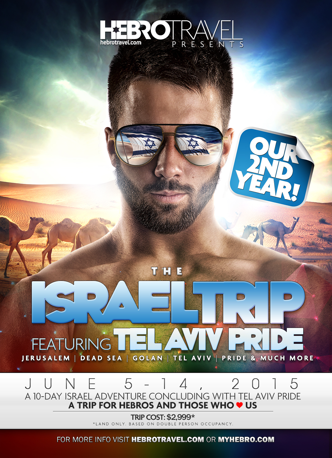 $300 Discount on Hebro Tel Aviv Pride Trip