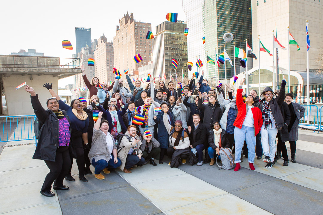 Activists at the  UN
