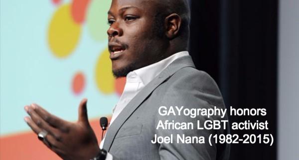 Honoring African LGBT activist Joël Nana