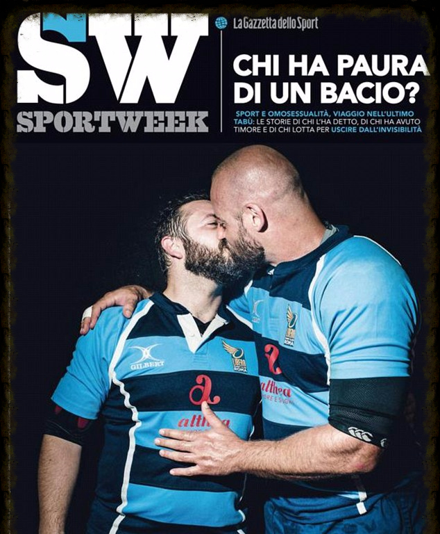 Italy Rugby Magazine Portrays Gay Kiss