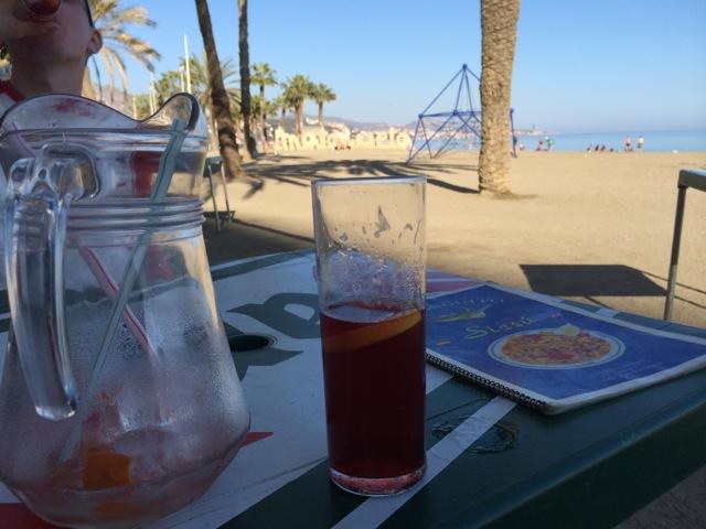 Beach in Malaga, Spain