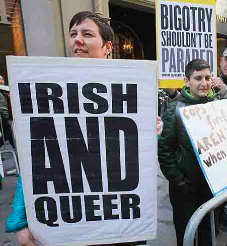 Protests Against St. Patrick's Day Parade
