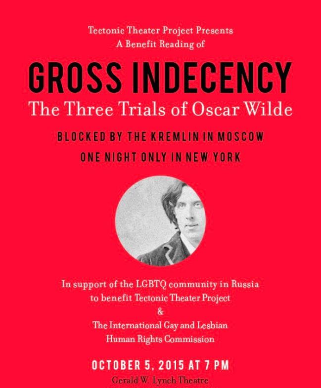 Three Trials of Oscar Wilde - Benefit for Russian LGBTIQ Community