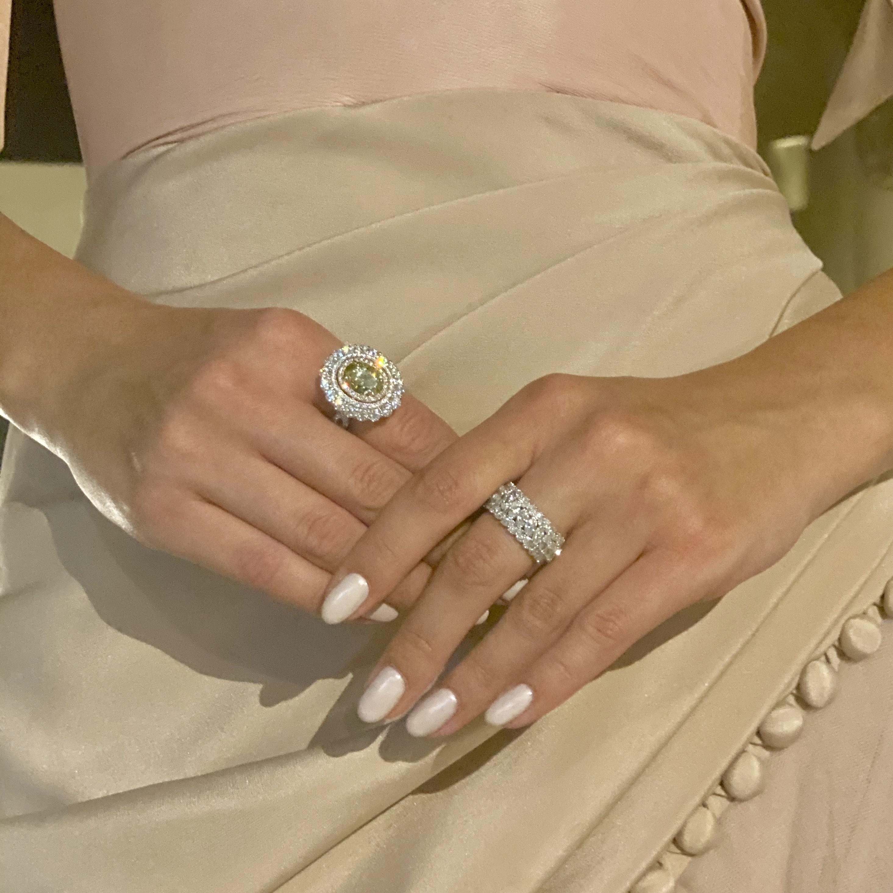 Emirati Collection Launch UAE Abu Dhabi Yellow Diamond White Diamond Ring Earrings Necklace Jewellery