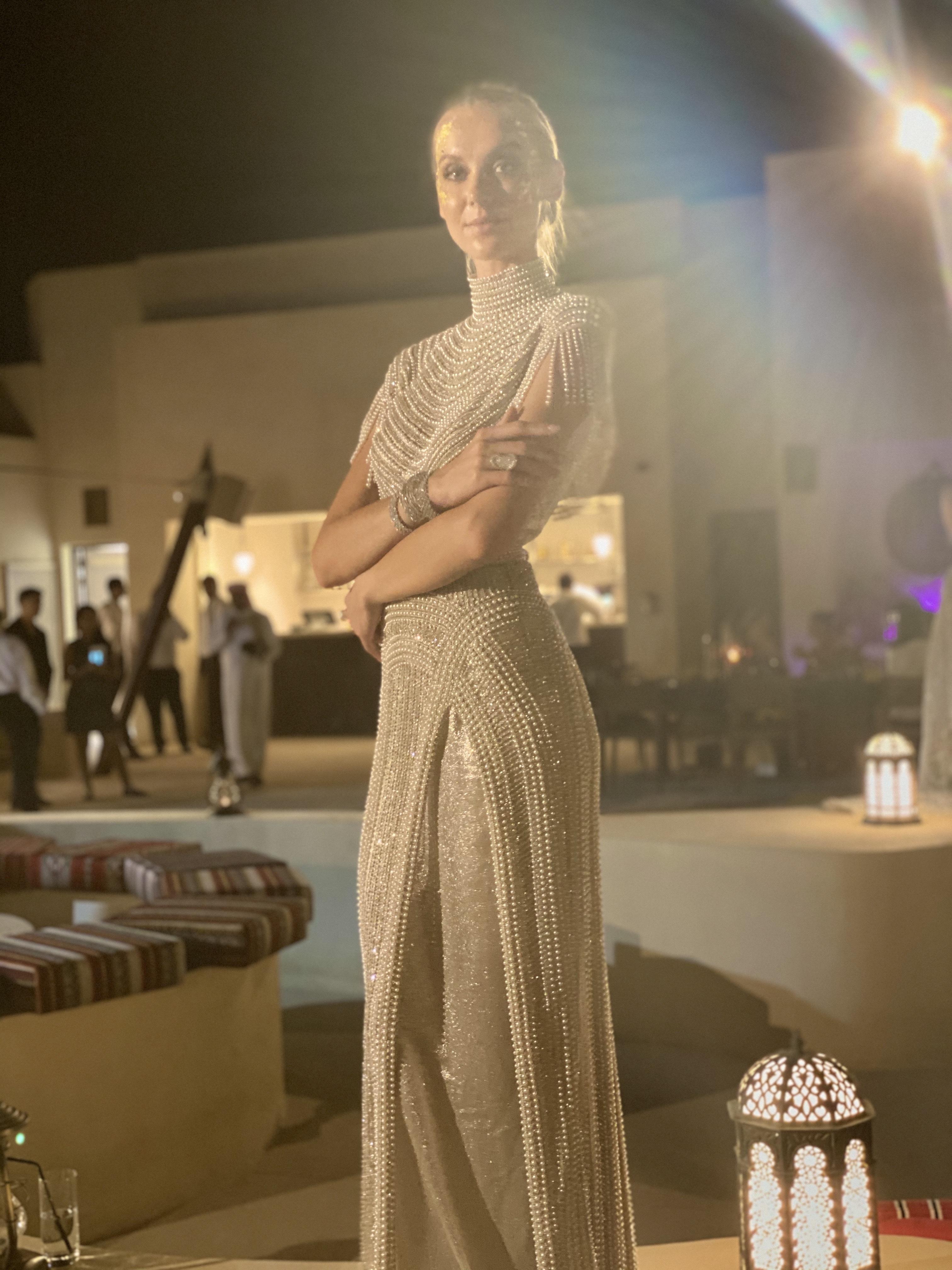 Emirati Collection Launch Yellow Diamond White Diamond Ring Earrings Necklace Jewellery