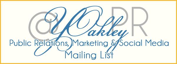 YOakleyPR Mailing List