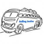 Rolling Justice Bus logo