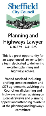 Sheffield - Planning & Highways Lawyer