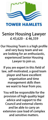 Tower Hamlets Senior Housing Lawyer