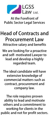 LGSS - Head of Contracts & Procurement