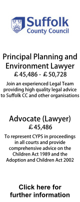 Suffolk County Council - Principal Planning and Environmental Lawyer and Advocate (Lawyer) Child Care.