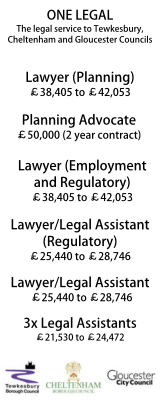 One Legal - The shared legal service of Tewkesbury, Cheltenham and Gloucester City Councils