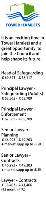 Tower Hamlets Council - multiple roles
