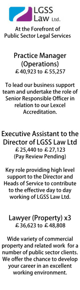 LGSS Law - multiple roles