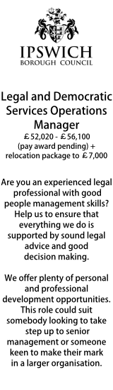 Ipswich Borough Council - Legal and Democratic Services Operations Manager