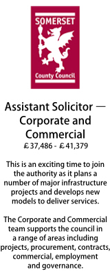 Somerset CC - Assistant Solictor - Corporate & Commercial