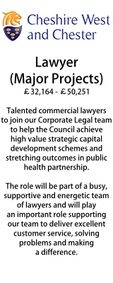 Cheshire West - Lawyer (Major Projects)