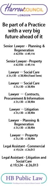 Harrow Council/HB Public Law  - various vacancies