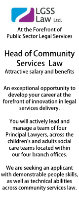 LGSS Head of Community Services Law
