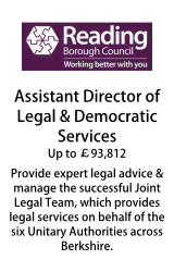 Reading Borough Council - Assistant Director of Legal & Democratic Services
