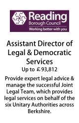 Reading Borough Council - Assistant Director of Legal & Democratic Services