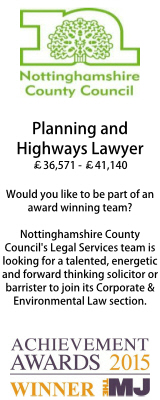 Planning and Highways Lawyer Nottinghamshire CC