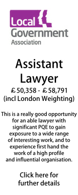 Local Government Association Assistant Lawyer