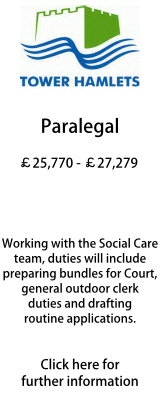Tower Hamlets Paralegal