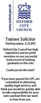 Trainee Solicitor Oxford City Council