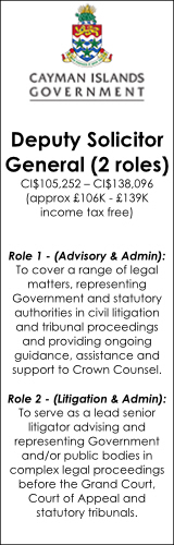 Cayman Islands Government - Deputy Solicitor General (2 roles)