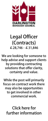 Legal Officer (Contracts) Darlington BC