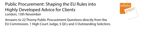 Public Procurement: Shaping the EU Rules into Highly Developed Advice for Clients