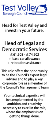 Test Valley - Head of Legal & Democratic Services