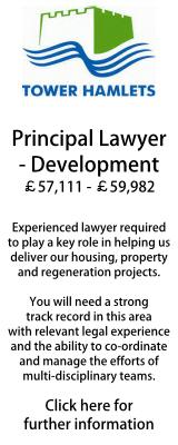Tower Hamlets Principal Development Lawyer
