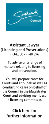 London Borough of Southwark Assistant Lawyer