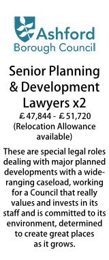Ashford Council - Senior Planning and Development Lawyers x2