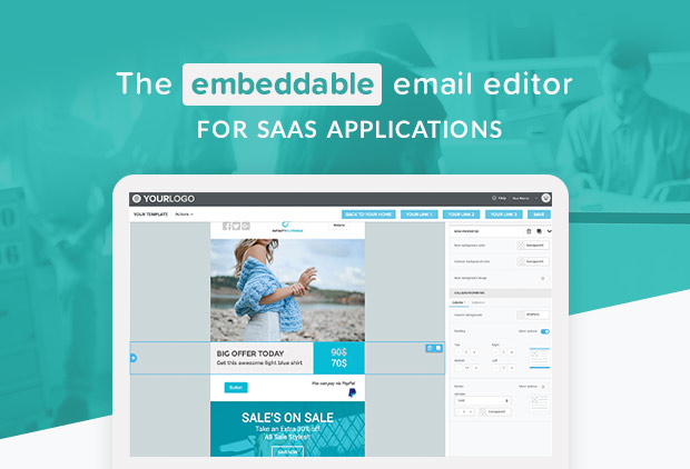 BEE Plugin is the embeddable email editor for SaaS